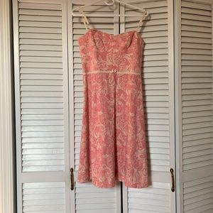 elie tahari dress pink paisley